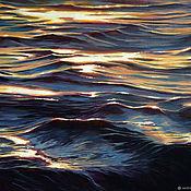 Картины и панно handmade. Livemaster - original item Picture Glare of the sun on the water, oil on canvas 40h50. Handmade.