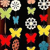 """Свадебный салон ручной работы. Ярмарка Мастеров - ручная работа Гирлянда """" Цветы и бабочки"""". Handmade."""
