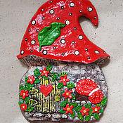 """Для дома и интерьера ручной работы. Ярмарка Мастеров - ручная работа Ключница """"Сказочный домик-мухомор"""". Handmade."""