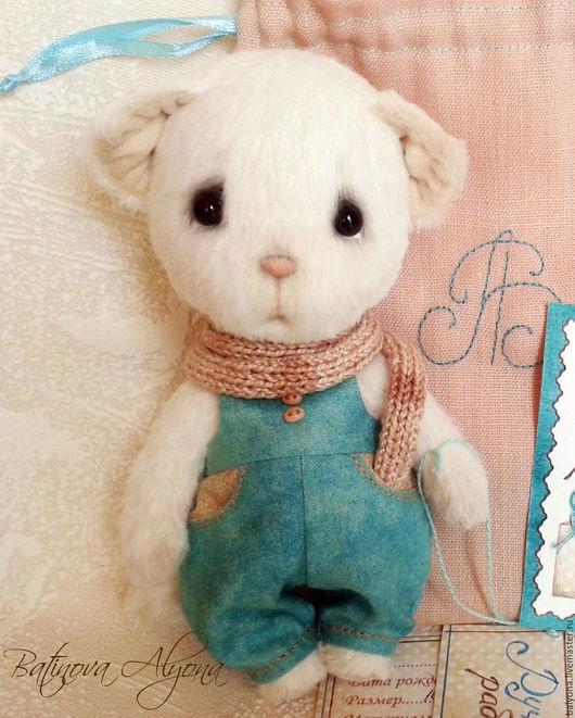 Мишки Тедди ручной работы. Ярмарка Мастеров - ручная работа. Купить Алан. Handmade. Белый, котик, миништоф, шплинты