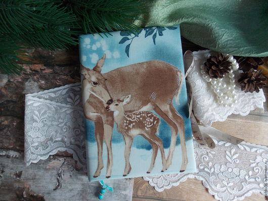 """Блокноты ручной работы. Ярмарка Мастеров - ручная работа. Купить Блокнот """"В зимнем лесу 2"""". Handmade. Голубой, бумага"""
