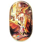 Винтаж handmade. Livemaster - original item Porcelain decorative plate, angel, Germany.. Handmade.