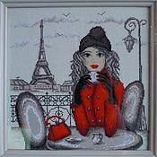 Картины и панно ручной работы. Ярмарка Мастеров - ручная работа Парижанка. Handmade.