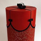 Сувениры и подарки ручной работы. Ярмарка Мастеров - ручная работа Подарочная коробка - красная. Handmade.