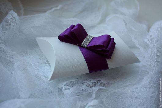 """Свадебные аксессуары ручной работы. Ярмарка Мастеров - ручная работа. Купить Бонбоньерка свадебная """"Фиолет"""". Handmade. Тёмно-фиолетовый, коробочка"""