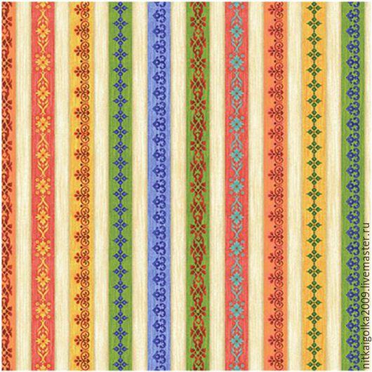Шитье ручной работы. Ярмарка Мастеров - ручная работа. Купить Ткань для пэчворка Лесные ягоды панель (полоски). Handmade. Ткань