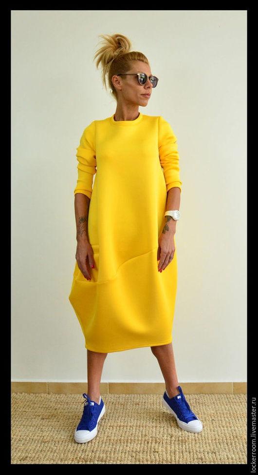 Платья ручной работы. Ярмарка Мастеров - ручная работа. Купить Платье туника ComfortNeo (Yellow). Handmade. Женское платье