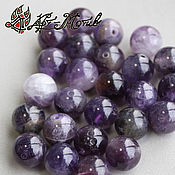 Материалы для творчества handmade. Livemaster - original item Amethyst, smooth bead, 10 mm (natural stone). Handmade.