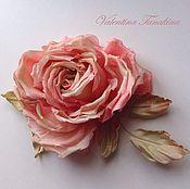 Украшения ручной работы. Ярмарка Мастеров - ручная работа Цветок из натурального шелка Чайная роза. Handmade.