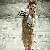 "Одежда handmade. Livemaster - original item ""Sandy"" Ethnic linen tunic Linen Dress Midi dress hand-made folk dress. Handmade."