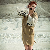 Одежда ручной работы. Ярмарка Мастеров - ручная работа Этническое льняное платье Sandy S. Handmade.