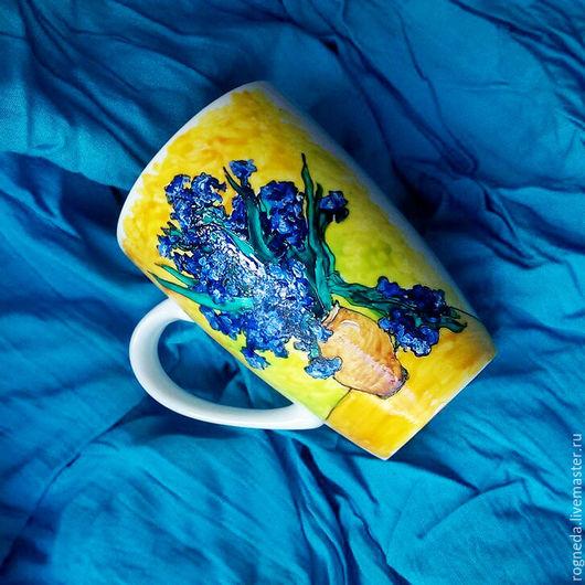 """Кружки и чашки ручной работы. Ярмарка Мастеров - ручная работа. Купить Кружка """"Ван Гог. Ирисы"""" (0808). Handmade. Комбинированный"""