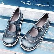 Обувь ручной работы. Ярмарка Мастеров - ручная работа Кожаные туфли DENIM. Handmade.