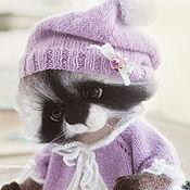 Куклы и игрушки ручной работы. Ярмарка Мастеров - ручная работа Енотушка Софьюшка и мишка..когда бывает грустно... Handmade.