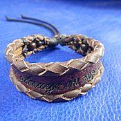 Украшения handmade. Livemaster - original item Leather bracelet engraved with You are always in my heart. Handmade.