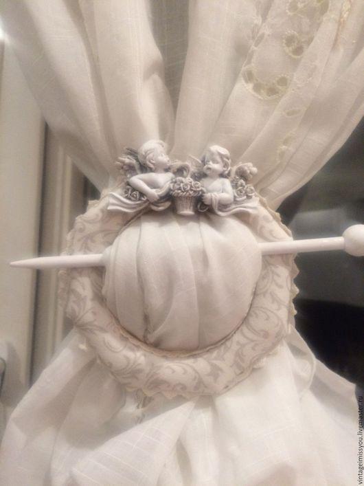 Текстиль, ковры ручной работы. Ярмарка Мастеров - ручная работа. Купить Зажим для штор Ангелы. Handmade. Комбинированный, дерево