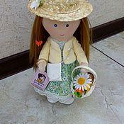 Куклы Тильда ручной работы. Ярмарка Мастеров - ручная работа Тильды: Куколка Дачница в шляпке. Handmade.