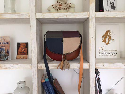 Женские сумки ручной работы. Ярмарка Мастеров - ручная работа. Купить Кожаная сумка Postman Patchwork. Handmade. Комбинированный