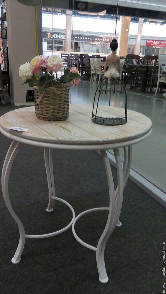 Мебель ручной работы. Ярмарка Мастеров - ручная работа. Купить Кованый кофейный столик. Handmade. Белый, терасса, столик, индивидуальность