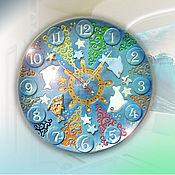 """Часы классические ручной работы. Ярмарка Мастеров - ручная работа Часы """"Морская сказка"""". Handmade."""
