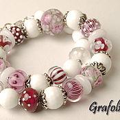 Украшения handmade. Livemaster - original item Pink beads. Handmade.
