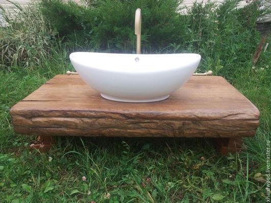 Мебель ручной работы. Ярмарка Мастеров - ручная работа. Купить консоль для ванной. Handmade. Коричневый