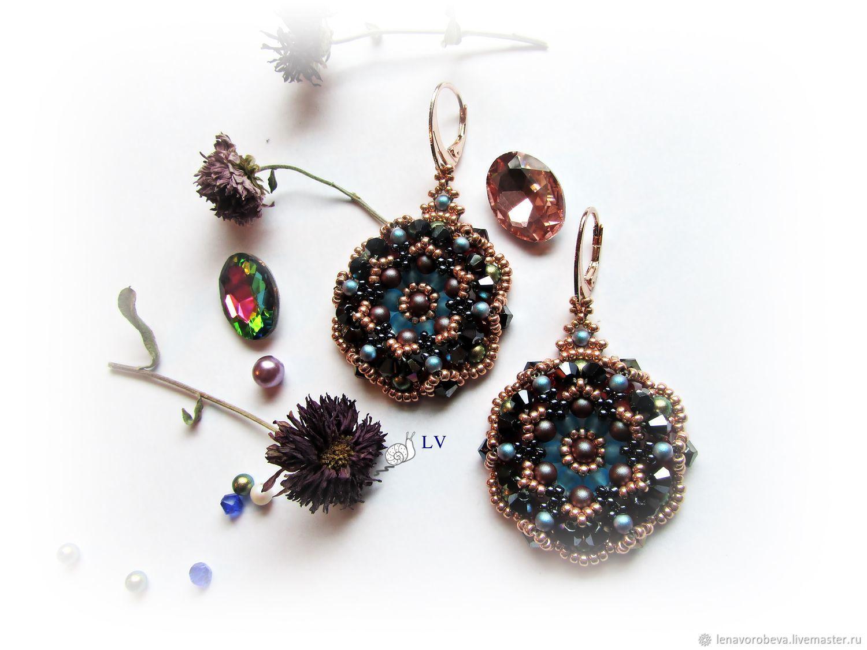 Earrings ' night secrets', Earrings, Voronezh,  Фото №1