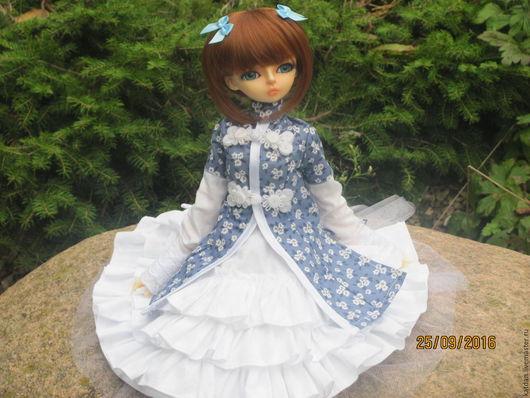 Одежда для кукол ручной работы. Ярмарка Мастеров - ручная работа. Купить Платье для MSD. Handmade. Комбинированный, платье