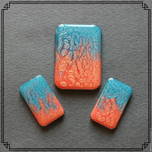 Для украшений ручной работы. Ярмарка Мастеров - ручная работа. Купить Лот 2  Комплект кабошонов ручной работы. Handmade.
