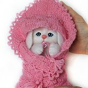 Куклы и игрушки handmade. Livemaster - original item The toy is made of wool. Hare felted toy for the birth of a child.. Handmade.