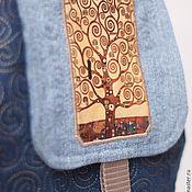 Рюкзаки ручной работы. Ярмарка Мастеров - ручная работа Джинсовый рюкзак Густав Климт школьный городской. Handmade.