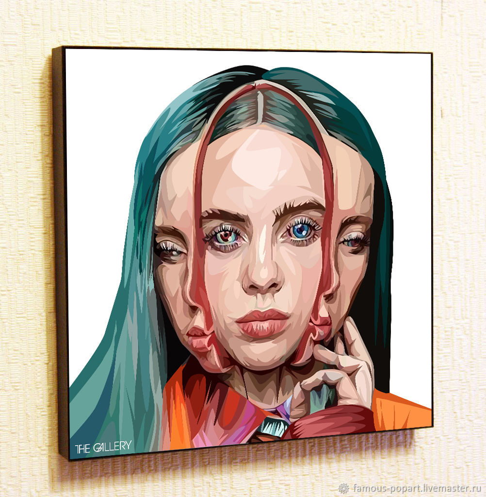 Picture Poster Billie Eilish Billie Eilish in the style of Pop Art, Fine art photographs, Moscow,  Фото №1