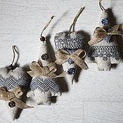 handmade. Livemaster - original item Sets of Christmas toys WINTER.Set 2 PCs. - Christmas tree and heart.. Handmade.