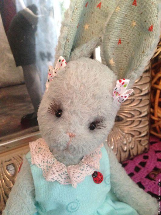 Мишки Тедди ручной работы. Ярмарка Мастеров - ручная работа. Купить Милашка, мятная маленькая зайка-тедди. Handmade. Мятный