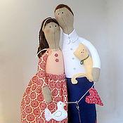 """Куклы и игрушки ручной работы. Ярмарка Мастеров - ручная работа Неразлучники """"Молодая семья"""". Handmade."""