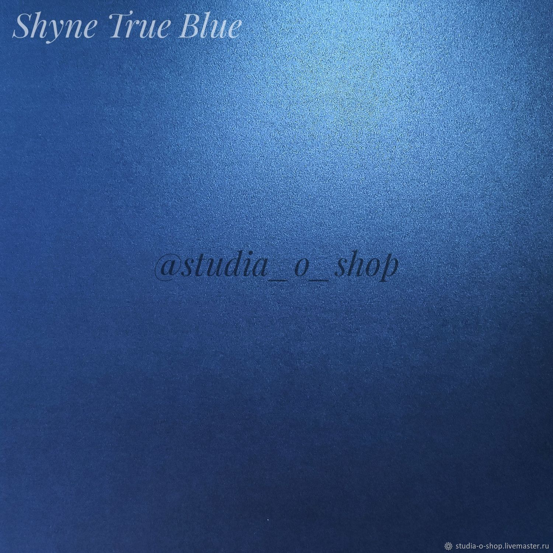 Дизайнерский картон Shyne True Blue 290гр/м2 30,5х30,5, Бумага, Челябинск,  Фото №1