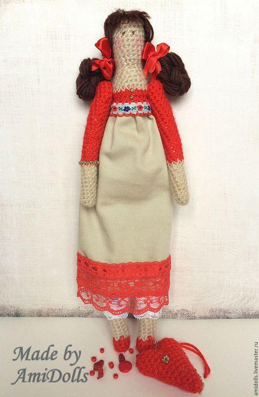 Человечки ручной работы. Ярмарка Мастеров - ручная работа. Купить Кукла в стиле Тильда. Итнтерьерная вязаная игрушка амигуруми. Handmade.