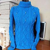 """Одежда ручной работы. Ярмарка Мастеров - ручная работа Вязаный свитер """"Небесный"""". Handmade."""