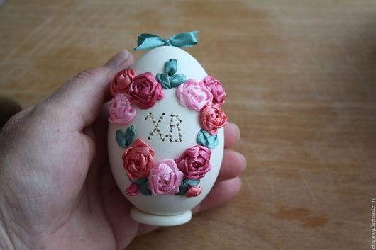 """Подарки на Пасху ручной работы. Ярмарка Мастеров - ручная работа. Купить Яйцо пасхальное. Вышивка лентами"""" Пасхальное воскресенье"""". Handmade."""