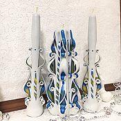 Свадебные свечи ручной работы. Ярмарка Мастеров - ручная работа Свадебные свечи: Семейный очаг. Handmade.