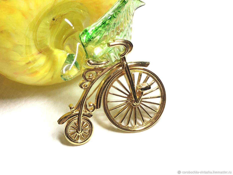 Винтаж: Брошь велосипед «Пенни-фартинг», Броши винтажные, Москва,  Фото №1