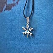 Украшения handmade. Livemaster - original item Snowflake pendant sterling silver. Handmade.