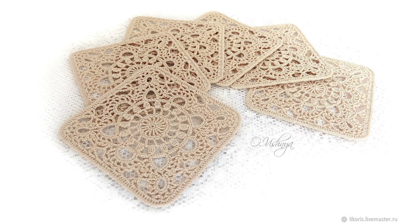 Crocheted napkins - coasters. ' Peanut cookies', Swipe, Novosibirsk,  Фото №1