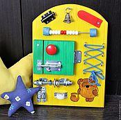 Куклы и игрушки ручной работы. Ярмарка Мастеров - ручная работа Мини Бизиборд. Handmade.