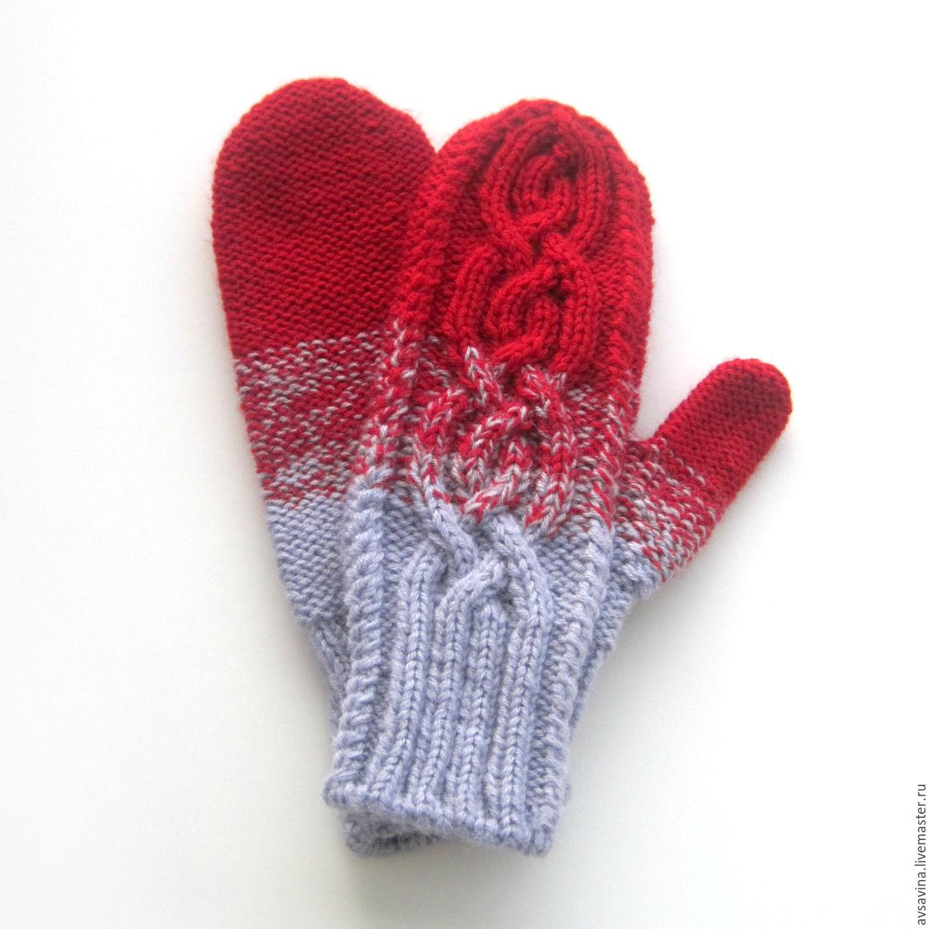 Вязание спицами варежки рукавицы