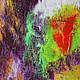Абстракция ручной работы. Абстрактная живопись. Marvelous.. Анна. Интернет-магазин Ярмарка Мастеров. Фиолетовый, деревья, абстрактная картина, мультиколор