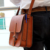 Сумки и аксессуары handmade. Livemaster - original item Mens leather handbag. Handmade.