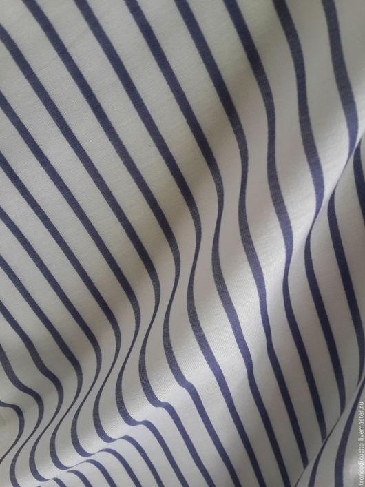 Шитье ручной работы. Ярмарка Мастеров - ручная работа. Купить Ткань в полоску ( шёлк - батист) Италия. Handmade. Ткань