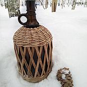 Утварь ручной работы. Ярмарка Мастеров - ручная работа Плетеная бутылка. Handmade.