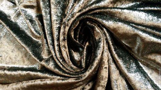 Шитье ручной работы. Ярмарка Мастеров - ручная работа. Купить Ткань для вечернего платья. Handmade. Коричневый, ткань для шитья, блестящая